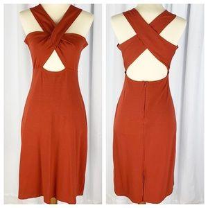 REFORMATION Rare Crisscross Cutout Stretch Dress